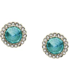 Fossil Power of Crystals Stainless Steel Stud Earr