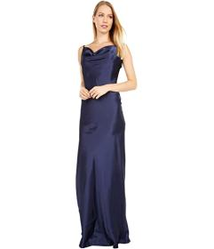 Bebe Solid Charmeuse Gown