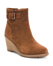 CARLOS BY CARLOS SANTANA Lug Sole Wedge Suede Boot