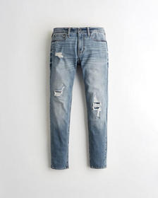 Hollister Super Skinny Jeans, RIPPED AND PATCH REP