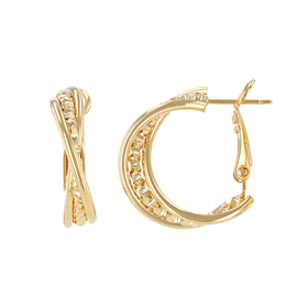 Womens 5th & Luxe 14kt. Gold Plated Twisted Bad Ho