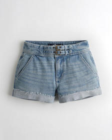 Hollister Vintage Stretch High-Rise Denim Mom Shor