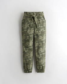 Hollister Stretch Ultra High-Rise Belted Camo Jogg