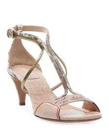 Chloe Carla Heeled Embossed Exotic Sandals
