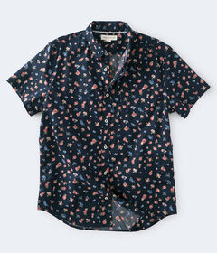 Aeropostale Floral Button-Down Shirt