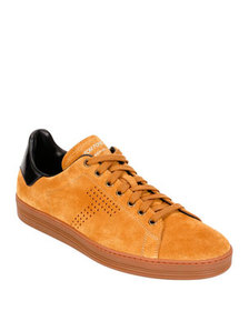 TOM FORD Men's Low-Top Suede Sneakers