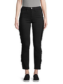 FRAME DENIM Le High Fringe Skinny Jeans