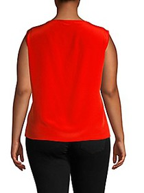 Marina Rinaldi Plus Sleeveless Silk Top
