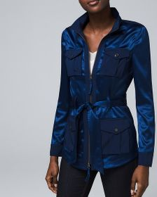 Petite Soft Utility Jacket with Removable Belt