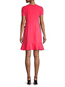 Karl Lagerfeld Ruffle Short-Sleeve A-Line Dress