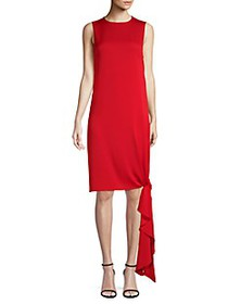 Milly Chiara Knotted Midi Dress