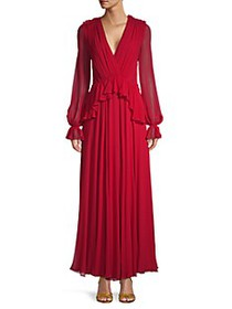 Giambattista Valli Silk Puff-Sleeve Maxi Dress