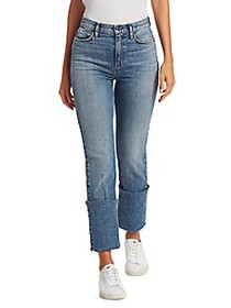 Hudson Jeans Holly High-Rise Straight High-Cuff Je