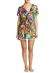 Milly Corvo Tropical-Print Coverup