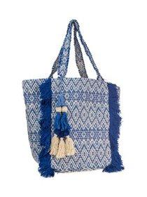 Magid Women's Cotton Beach Tote with Frayed Fringe