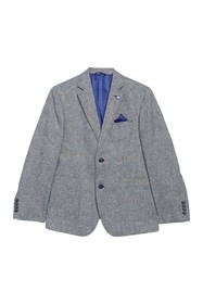 Ben Sherman Blue Sharkskin Two Button Notch Lapel