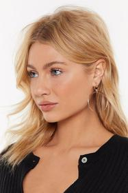 Nasty Gal Gold Party on the Moon Drop Earrings