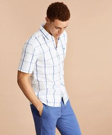Brooks Brothers Windowpane Cotton Broadcloth Short