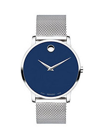 Movado Museum Stainless Steel Bracelet Watch SILVE
