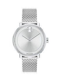 Movado BOLD Stainless Steel Mesh Bracelet Watch SI