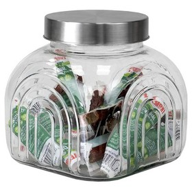 Home Basics Heritage 2.5 LT Glass Jar with Silver
