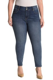 Seven7 Tummyless High Rise Skinny Jeans (Plus Size