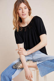 Anthropologie Calista Crochet Top
