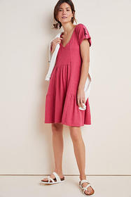 Anthropologie Kathie Flounced Mini Dress