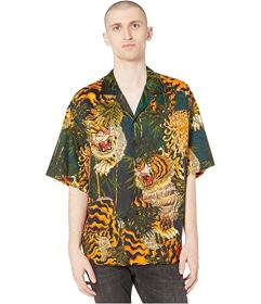 DSQUARED2 Tiger Flower Printed Shirt