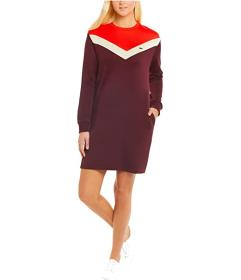 Lacoste Long Sleeve French Terry Color-Block Dress