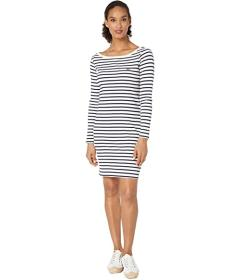 Lacoste Long Sleeve 1X1 Rib Boatneck Dress