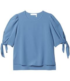 See by Chloe Crepe Top with Ties