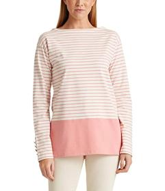 LAUREN Ralph Lauren Striped Cotton Jersey Top