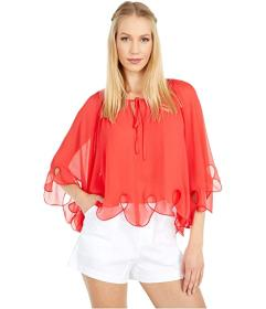 See by Chloe Georgette Cape Blouse