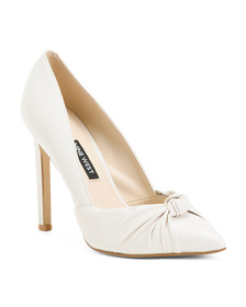 NINE WEST Knot Front Leather Heels