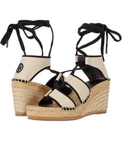 Tory Burch Color-Blocked 65 mm Lace-Up Espadrille