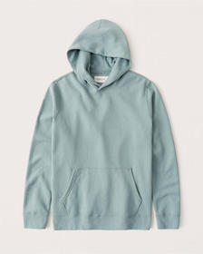 The A&F Perfect Popover Logo Hoodie, BLUE