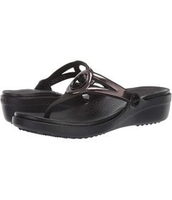 Crocs Sanrah Diamante Wedge Flip