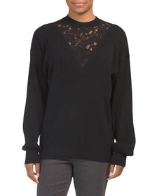 SEE BY CHLOE Lace Detail Sweater