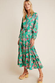 Anthropologie Daniella Tiered Maxi Dress
