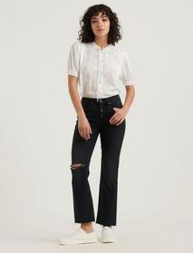 Lucky Brand Mid Rise Ava Crop Mini Boot Jean