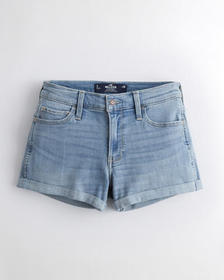 Hollister Advanced Stretch Mid-Rise Denim Short 3""