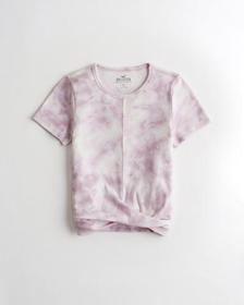 Hollister Must-Have Twist-Front T-Shirt, PURPLE TI