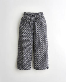 Hollister Ultra High-Rise Smocked-Waist Culottes,