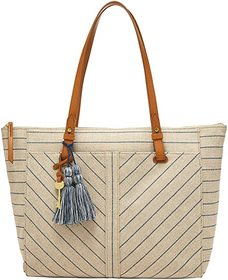 Fossil Fossil - Rachel Zip Top Tote. Color Natural