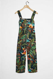 Anthropologie Farm Rio Monkeys Cropped Jumpsuit