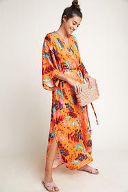 Anthropologie Roeqiya Garden Princess Caftan