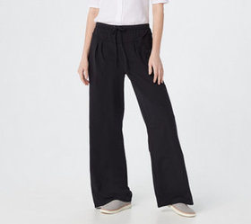 """As Is"" AnyBody Cozy Kind Jersey Knit Wide Leg Pan"