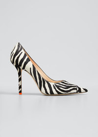 Jimmy Choo 100mm Love Animal-Print Pumps