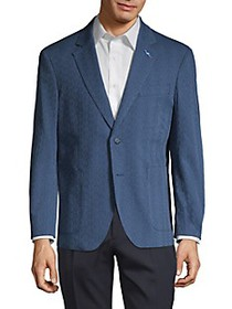 TailorByrd Printed Cotton Blend Sportcoat